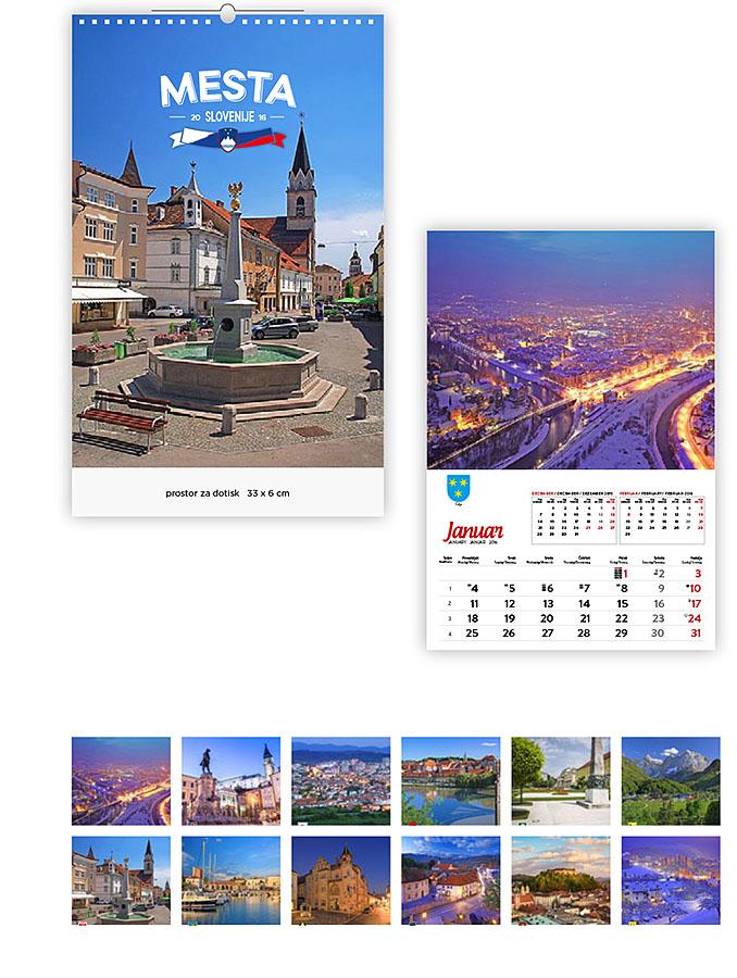 12 Koledarji 2016 - EUROGRAF- mesta slovenije
